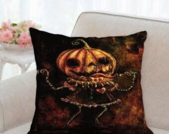 Halloween Pumpkin Designer Pillow