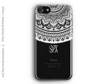 iPhone X Case, iPhone 7 Case, Personalized, iPhone 8 Case, iPhone 6 Case, Mandala, iPhone 8 Plus Case, Galaxy S8 Case, Samsung Galaxy Case