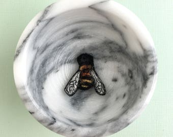 Bee Brooch, felted pin, needle felted, bee jewelry, wearable art pin, felted brooch, insect accessories, honeybee brooch, felt accessory