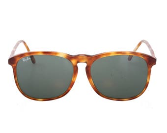Rayban Bausch & Lomb style E-1  made in France vintage tortoise cello aviator sunglasses.