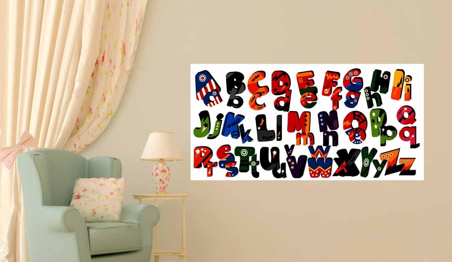 Superheros Alphabet Wall Art,Superhero Alphabet,Colorful Alphabet,Kids Room  Art,Nursery Room Art,Kidu0027s Room Poster,Superhero Poster,Alphabet