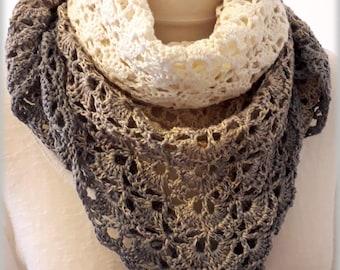 Orchid Primrose scarf shawl