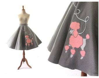 1950s clothing, 1950s costume,  poodle skirt, 1950s Skirt, 50s Skirt, Circle Skirt, medium, large, vintage 1950s Skirt, Womens Clothing