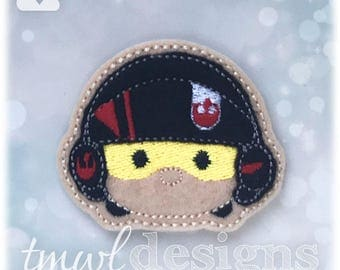 Poe Tsum Feltie Digital Design File - 1.75""