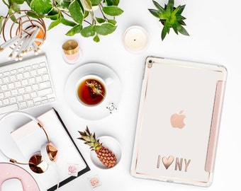 Stikē - Embossed Rose Gold Letters Decal and Monogram - Touch of Personality and glamour for your iPad or iPhone-  Platinum Edition - Stike