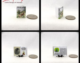 STUART LITTLE Color Illustrated Miniature Book Dollhouse 1:12 Scale Readable by E.B. White Readable Book Mouse