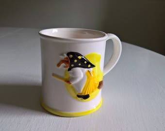 Vintage Health & Happiness Kitchen Witch Mug --- Scandinavian Traditional Folklore Superstition Good Luck Charm --- Retro Housewamring Gift