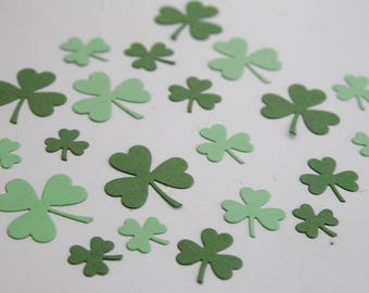 Shades of Green Shamrock Confetti, St. Patrick's Day Party Decor, DIY Irish Crafts Classroom Activities St. Paddy's Day Die Cuts