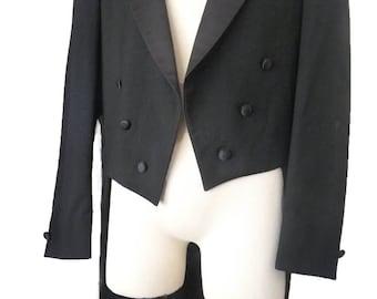 Christian Dior Monsieur Tuxedo Tails Black 44 XL Formal