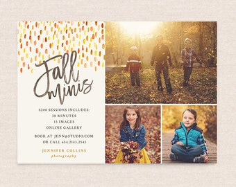 Fall Mini Session Photoshop Template Marketing Board For - Mini session templates