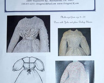Civil War Wrapper/Maternity Dress Lady Reenactor (NEW Patterns)