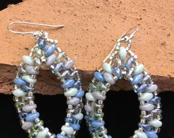 Beaded super duo earrings