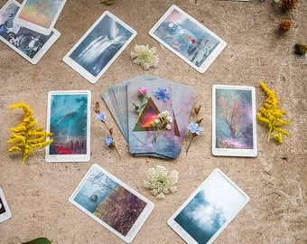 Universal Mind Oracle Deck, Inspiration Cards, Oracle Cards, Altar Tools, Spiritual Tools, Witchy, Pagan, Nature Art, Tarot Reading, Oracle