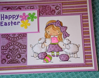 Happy Easter Handmade Greeting Card - Easter Parade 3D Silicone Card