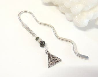 Pyramid Bookmark, Egyptian Bookmark, Beaded Bookmark, Metal Bookmarks, Dad Gift, Travel Archaeology Teacher Gift