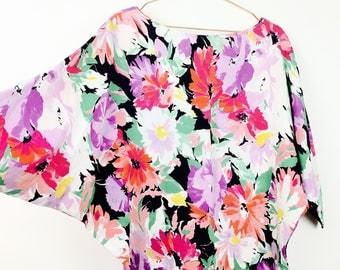 80s Vintageoberteil, blouse, over sizes, wing sleeves, 36-38, M