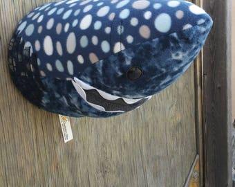 Faux Taxidermy Shark Head, Baby Room Decor, Wall Hanging, Ocean Theme, Fake Shark Head