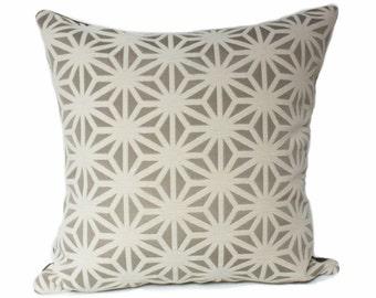 Beige grid pillow, Beige modern pillow, kirigami mist pillow, arc com fabric, brown pillow cover, star pillow cover