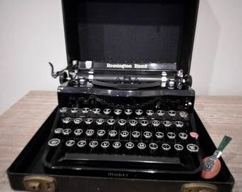 1930s Remington Rand Model 1 typewriter, Remington portable, noiseless typewriter, portable typewriter, Remington typewriter
