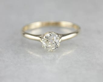 Old Mine Diamond Solitaire, Antique Diamond Engagement, Classic Engagement Ring Y6TF39MN-N