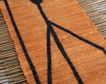 Handmade Artisan African Twig Table Runner ~ Made in Mali ~ African Mudcloth Bogolanfini ~ Artisan