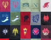 Dragon Age Themed Bath Towels