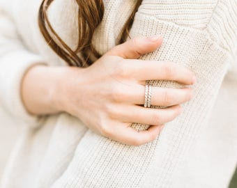 Chunky Twisted Stacking Ring