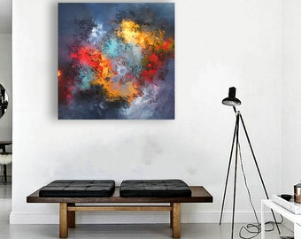 abstract painting by Alex Senchenko / Contemporary ART / abstract expressionism / abstract canvas art / abstract wall art / abstract art