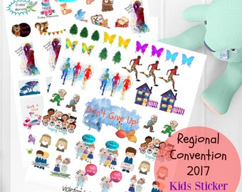 JW Kids, 2017 Regional Convention, Printable Sticker Pack, 2017 Regional Convention Notebook, JW Gifts, JW org, Jw convention, Jw stickers