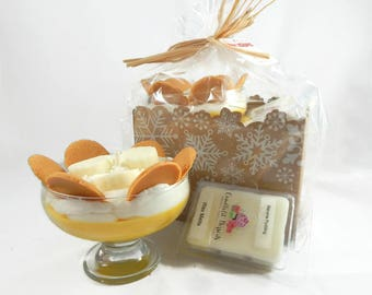 Scented Banana Pudding Candle & Wax Melt Gift Set