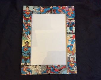 """Superman comicbook 7"""" by 5"""" picture frame"""