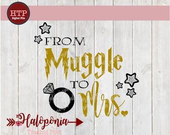 Muggle to Mrs. Bachelorette SVG Design Cut File (Harry Potter)