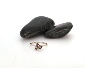 Bird Gifts, Bird, Bird Lover Gift, Gift For Her, Bird Jewelry, Silver Bird Ring, Sterling Silver, Stacking Ring, Flying Bird