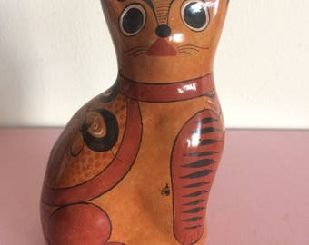 Vintage Tonala Burnt Orange Cat