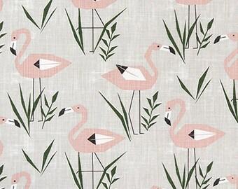 Flamingo Designer Fabric Home Decor Fabric Upholstery Fabric - 1/2 Yard