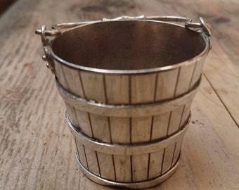 Vintage silver bucket /pail