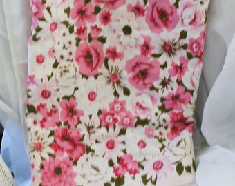 Vintage Rose Flower Shabby Summer  Floral Cotton Tablecloth