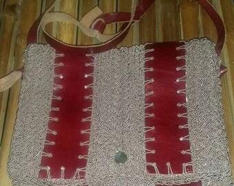 Vintage Woven Shoulder Strap Purse