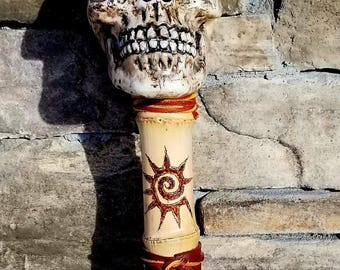 Pirate/Skull/Fantasy themed Bamboo Walking Stick