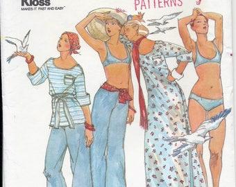70s Butterick 4248 Designer John Kloss Misses' Cover Up, Pants, Bikini & Belt Sewing Pattern UNCUT