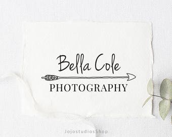 Premade Photography Logo, Custom Logo, Watermark with Arrow, Business Logo, Bohemian Logo, Watermark Logo, Arrow Logo, Branding Kit, L057