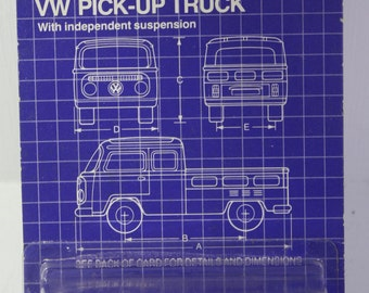 Vintage Scarce NOS Siku Eurobuilt 1:55 scale  model red  VW 6 person Pick up Truck #1030 Made in W. Germany -  Free Shipping Domestic USA