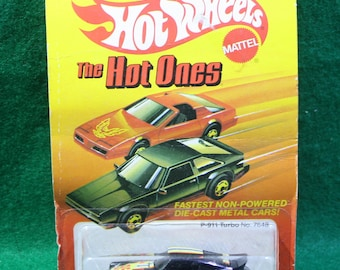 Vintage NOS 1982  Mattel Hot Wheels -' Hot Ones'  Porsche 911 turbo #7648