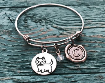 Scottish Terrier, Scottie Dog, Westie, Aberdeen terrier, Scottie dog jewelry, Teenager, Silver Bracelet, Charm Bracelet, Silver Jewelry