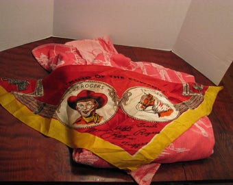 Vintage Roy Rogers and Trigger Scarf and Blanket