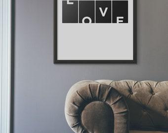 Love Art Print Love Home Decor, Love Moder Wall Art, Love Printable Living Room Decor, Love Prints, Love Decor, Love Poster Pdf Jpg