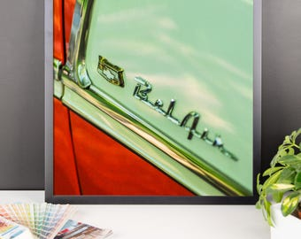Framed photo paper poster - Red Silo Original Art - Chevy Bel Air 1