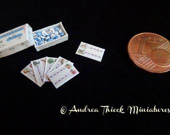 Art Nouveau Miniature Lotto Game - Artisan Handmade Miniature 1:12 scale