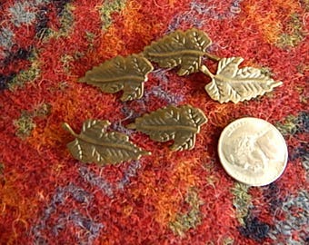Bronze Leaf Buttons (5)