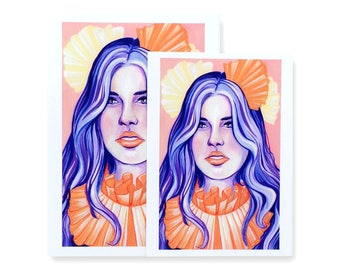 Violet / Art Print / Fashion Illustration / Gouache Art